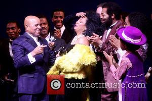 Berry Gordy, Diana Ross, Br, on Victor Dixon, Valisia LeKae and Raymond Luke Jr. - The opening night curtain call...