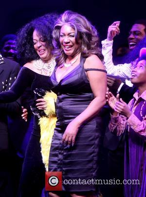 Diana Ross and Mary Wilson - The opening night curtain call for Motown:The Musical at the Lunt-Fontanne Theatre - New...