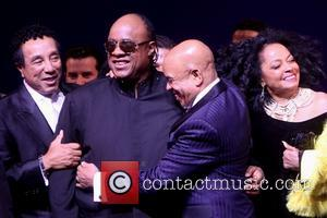 Smokey Robinson, Stevie Wonder, Berry Gordy and Diana Ross