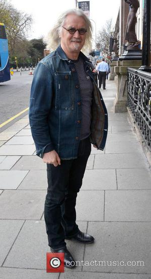 Billy Connolly - Comedian Billy Connolly at the Shelbourne Hotel with his long grey tresses blowing in the wind! -...