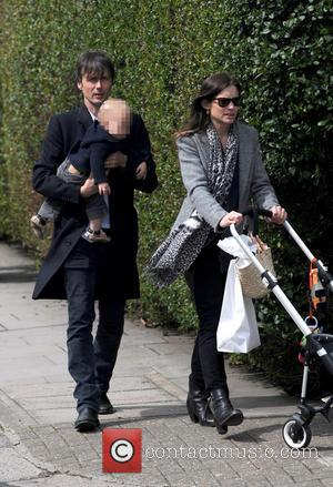 Brett Anderson - Brett Anderson, lead vocalist of the band Suede, seen out with his family in Notting Hill -...