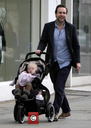 Rafe Spall, Lena Spall and Rex Spall - Rafe Spall with his children Lena and Rex out and about in...