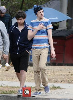 Christopher Mintz-Plasse - Christopher Mintz-Plasse is seen on the set of 'Townies' - Los Angeles, CA, United States - Monday...