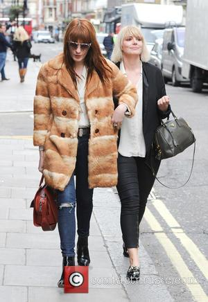 Florence Welch - Florence Welch wearing a large brown fur coat seen out and about in Soho - London, United...