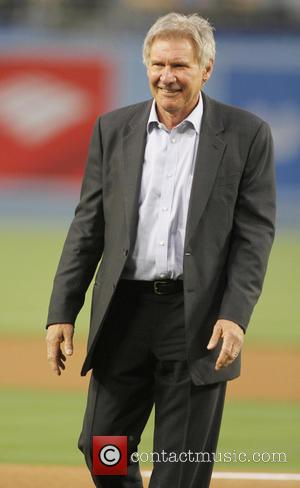Harrison Ford - Harrison Ford and Calista Flockhart attend the San Diego Padres vs Los Angeles Dodgers game at Dodger...