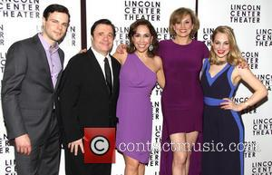 Jonny Orsini, Nathan Lane, Andrea Burns, Cady Huffman and Jenni Barber