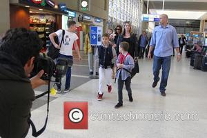 Victoria Beckham, Harper Seven Beckham, Romeo Beckham, Brooklyn Beckham and Cruz Beckham