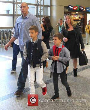 Victoria Beckham, Harper Seven Beckham, Romeo Beckham, Brooklyn Beckham and Cruz Beckham - Victoria Beckham and family at Los Angeles...