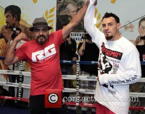 Las Vegas, RUBIN GUERRERO Father/trainer and son ROBERT GUERRERO