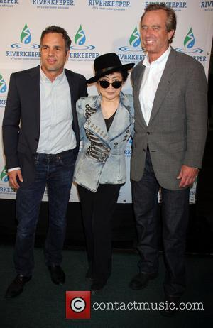 Mark Ruffalo, Yoko Ono and Robert Kennedy Jr