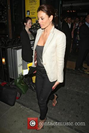 Melanie Sykes - 'Beautiful Thing' Press Night at The Arts Theatre - Departures - London, United Kingdom - Wednesday 17th...