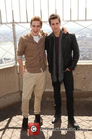 James Maslow and Kendall Schmidt - 'Big Time Rush' stars James Maslow and Kendall Schmidt visit the Empire State Building...