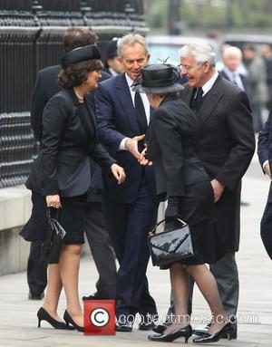 John Major, Norma Major, Tony Blair and Cherie Blair
