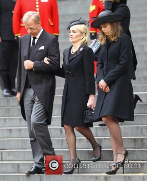 Jane Russell, Mark Thatcher, Amanda Thatcher and Margaret Thatcher