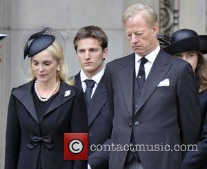 Jane Russell, Mark Thatcher, Michael Thatcher and Margaret Thatcher