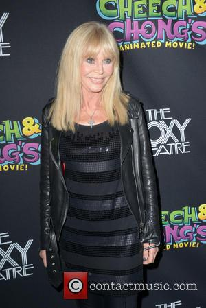 BRITT EKLAND - Cheech and Chong Animated Movie Premiere held at The Roxy Theatre - Hollywood, California, United States -...