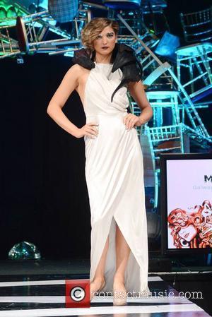 Alannah Beirne wearing Mona Sweeney - Vodafone DIT Fashion Show 2013 at Vicar Street - Catwalk - Dublin, Ireland -...