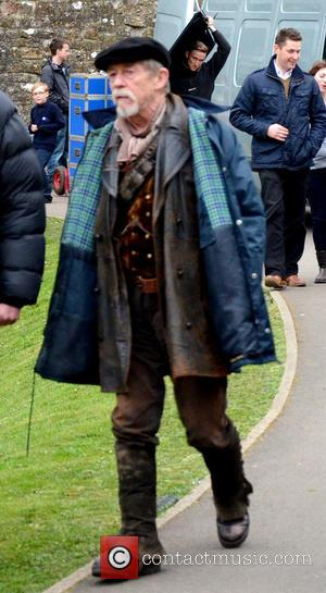John Hurt - Doctor Who cast filming on location for the 50th anniversary of the BBC series, 'An Adventure in...