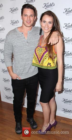 Matt Lanter and Angela Stacy - Kiehl's Launches Environmental Partnership benefiting Recycle Across America - Santa Monica, California, United States...