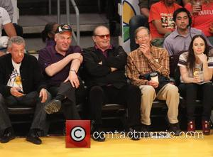 Jack Nicholson - Celebrities watching Houston Rockets vs Los Angeles Lakers at the Staples Center in the final game of...