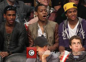 Tyler James Williams - Celebrities watching Houston Rockets vs Los Angeles Lakers at the Staples Center in the final game...