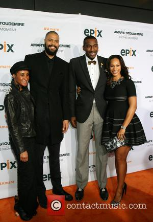 Kimberly Chandler, Tyson Chandler, Amare Stoudemire and Alexis Stoudemire