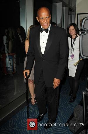 Harry Belafonte - 28th Annual Rock and Roll Hall Of Fame Induction Ceremony - Press Room - Los Angeles, California,...
