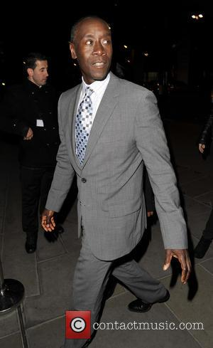 Don Cheadle - Iron Man 3 celebrities arriving at Sushi Samba for a private dinner - London, United Kingdom -...