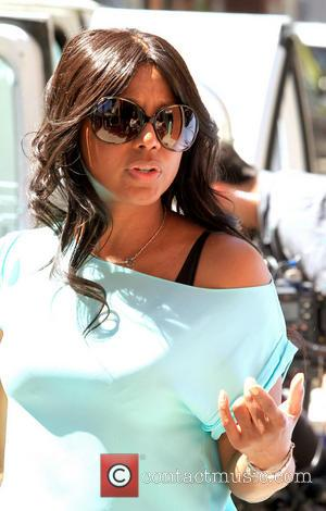 Toni Braxton - Toni Braxton on the set of her reality television show 'Braxton Family Values', outside Mr Chow's restaurant...