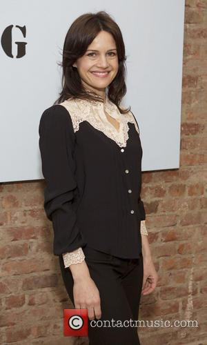 Carla Gugino - Yoko Ono's Imagine No Fracking Installation at ABC Home & Carpet - New York City, NY, United...
