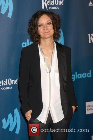 Sara Gilbert - 24th Annual GLAAD Media Awards held at the JW Marriott - Arrivals - Los Angeles, California, United...