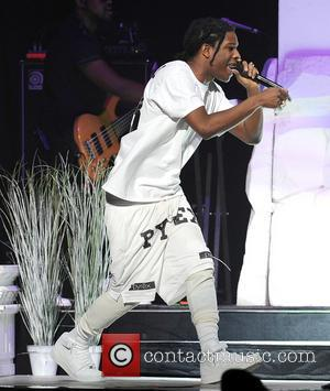 A Rocky - A Rocky performs live as support for Rihanna during her Diamonds 2013 world tour at the BB&T...