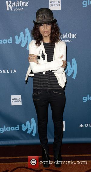Linda Perry - 24th Annual GLAAD Media Awards held at the JW Marriott - Arrivals - Los Angeles, CA, United...