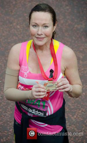 Amanda Mealing - The 2013 Virgin London Marathon - London, United Kingdom - Sunday 21st April 2013