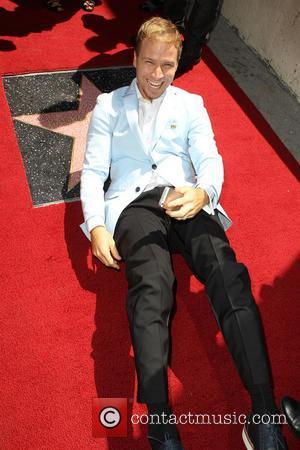 Brian Littrell and The Backstreet Boys - The Backstreet Boys are honoured with a Hollywood Star on the Hollywood Walk...