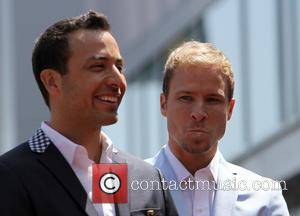 Howie Dorough and Brian Littrell - The Backstreet Boys celebrate their 20-year career with a Star on the Hollywood Walk...