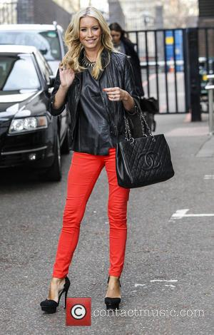 Denise Van Outen - Celebrities leave the ITV studios - London, United Kingdom - Monday 22nd April 2013