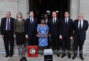 Damian Green, Theresa May, Nick Clegg, Doreen Lawrence, David Cameron, Ed Miliband and Boris Johnson