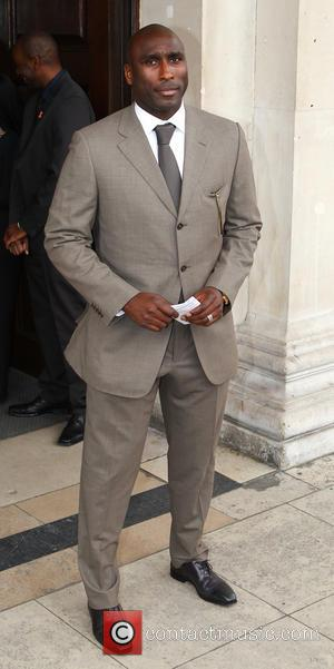 Sol Campbell - Stephen Lawrence - memorial service held at St Martin-in-the-Fields Church, Trafalgar Square - Arrivals - London, United...