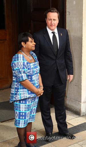 David Cameron and Doreen Lawrence