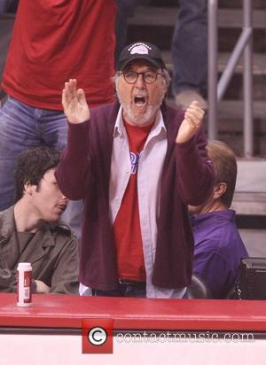 James L. Brooks - Celebrities at the Clippers Grizzlies NBA playoff game at the Staples Centre. The Clippers went on...