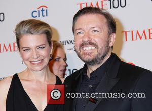 Jane Fallon and Ricky Gervais