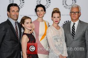 Jon Hamm, Kiernan Shipka, Jessica Pare, January Jones and John Slattery