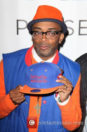 Spike Lee - New York Knicks Roll Out The Blue Carpet presented by Chase, for game 2 against Boston Celtics...