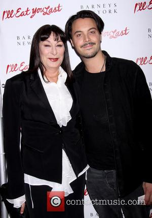 Anjelica Huston and Jack Huston