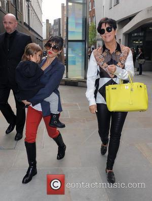 Kourtney Kardashian, Mason Disick and Kris Jenner