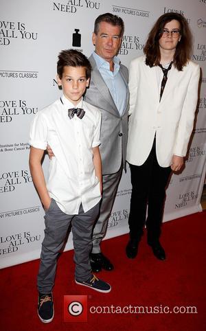 Pierce Brosnan, Paris Brosnan and Dylan Brosnan