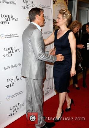 Pierce Brosnan and Trine Dyrholm