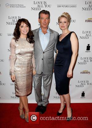 Susanne Bier, Pierce Brosnan and Trine Dyrholm