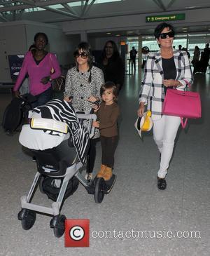 Mason Disick, Kourtney Kardashian and Kris Jenner